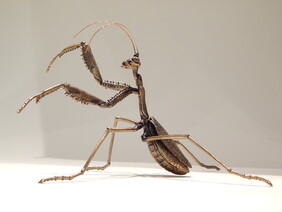 Praying Mantis bronze sculpture by Ken Auton
